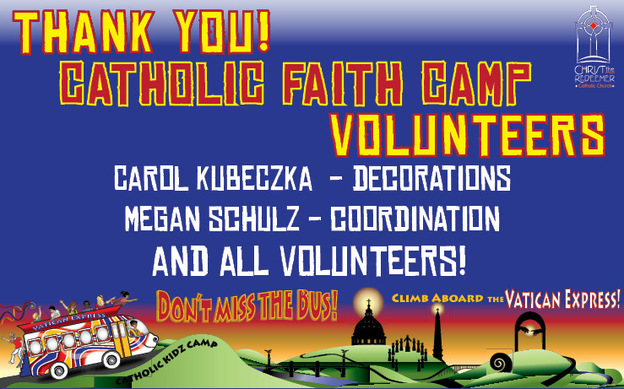 Catholic Faith Camp Thank You!