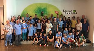 Teams Of Our Lady Volunteers at the Houston Food Bank