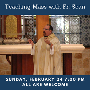 Teaching Mass with Fr. Sean