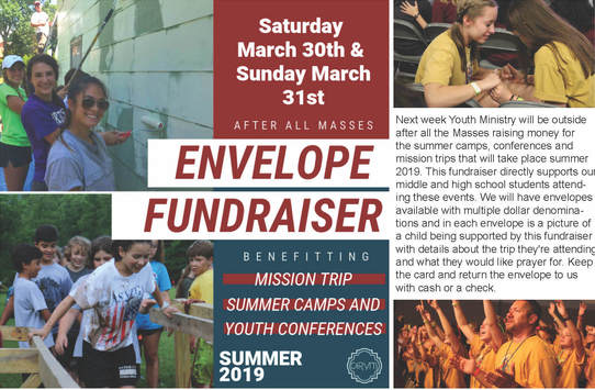 Youth Ministry Envelope Fundraiser | Christ The Redeemer