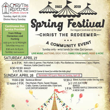 Bulletin for April 28 - Festival Weekend