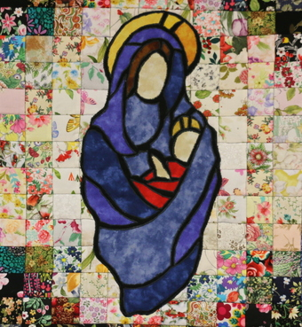 Piecemakers Fall Sale auction item: Mary and Baby Jesus Quilt