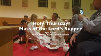 Holy Thursday | Livestreamed Mass