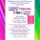80's Trivia Knight This Saturday!