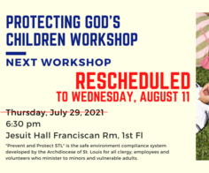 PGC Workshop To Be Rescheduled to Aug. 11th