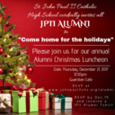 CALLING ALL ALUMNI.....Join Us December Dec. 21, 2017 Click here for more details.