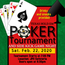 POKER TOURNAMENT FEB. 22, 2020 7PM