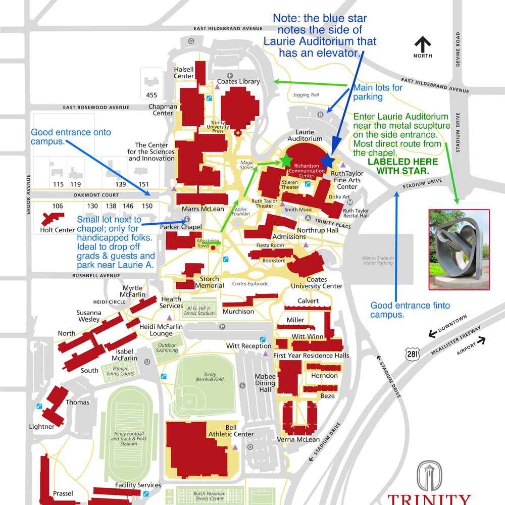 St Johns Campus Map.Map To Graduation Site St John Paul Ii Catholic High School New
