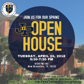 Spring OPEN HOUSE- 24 April 2018