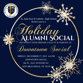 Alumni Holiday Social Fri. Dec. 27th 4-6 PM
