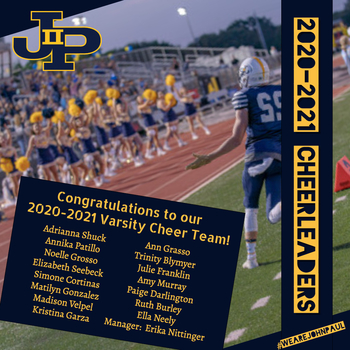 Congratulations to our 2020-2021 Varsity Cheer Team!
