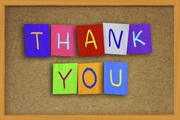 """Thank You"" notes to the Parish"
