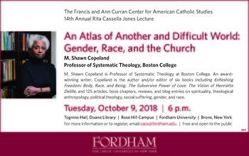 Fordham University presents M. Shawn Copeland's Lecture on Gender, Race & the Church