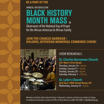 Annual Archdiocesan Black History Month Mass - Choir Rehearsals