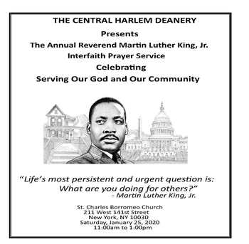Central Harlem Deanery MLK Interfaith Prayer Service