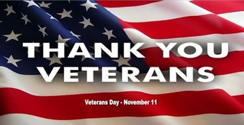 VETERANS DAY CELEBRATION NEXT WEEK