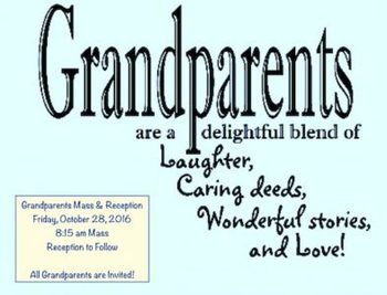 GRANDPARENTS MASS AND RECEPTION