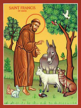 Blessing of the Pets on Oct. 4th