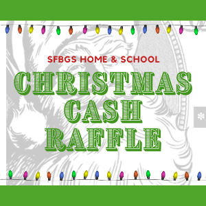 Christmas Cash Raffle Early Bird Drawing Oct. 28!