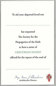 Mass Cards - Society For The Propagation Of The Faith - New