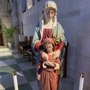 Stop by Soon to See Our Restored Mary and St. Ann Statue!