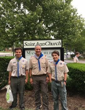 St. Ann Boy Scouts Open House