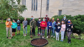 Teens Plant 2 Parish Trees on 5th Anniversary of Pope Francis's Laudato Si' Encyclical!