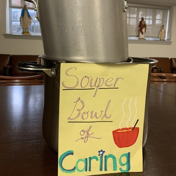 Parish Donates $1,006 to Help the Homeless through Souper Bowl of Caring