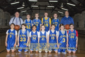 St. Ann's CYO 12U Boys Basketball Team Wins Archdiocese of Washington Championship!