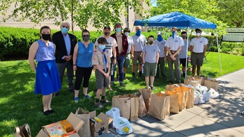 2,500 Items Donated during Contactless Summer Food Drive!