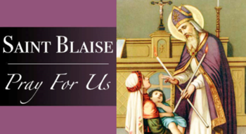Blessing of the Throats Honoring the Feast of St. Blaise