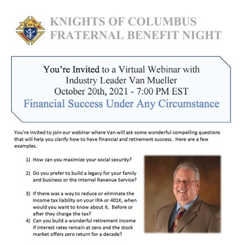 Knights of Columbus Fraternal Benefit Night
