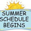 Summer SUNDAY Mass Schedule begins June 23/24