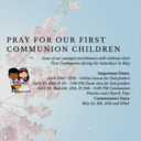 Pray for Our First Communion Children