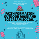 Outdoor Mass and Ice Cream Social