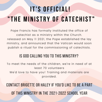 The Ministry of Catechist