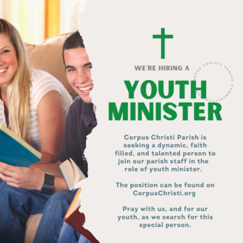 We're Hiring a Youth Minister