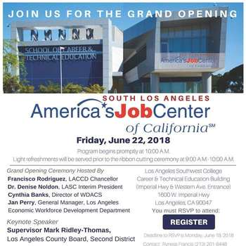 South Los Angeles AJCC Grand Opening