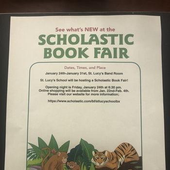 Support Our Scholastic Book Fair!