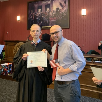 Javier Cruz becomes a U.S. Citizen!