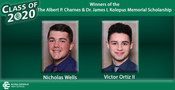Winners of The Albert P. Charnes and Dr. James. L. Kolopus Memorial Scholarships