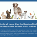 Blessing of the Pets on Saturday, October 3rd