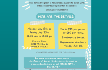 Totus Tuus - July 19-23rd at Prince of Peace