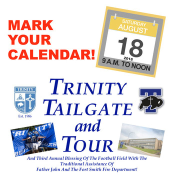 Save the Date for 2018 Trinity Tailgate and Tour