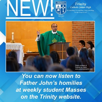 Listen to homilies from Trinity online