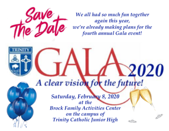 Save the Date! Gala 2020 is set for February 8th.