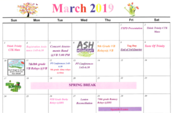 March Calendar Available for Download
