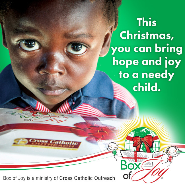 Our Box of Joy project will run October 17-November 7. Please pick up a box to fill to share the joy of Christmas with a needy child.