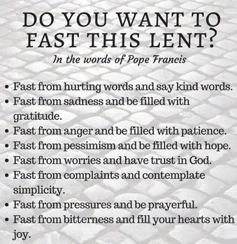 Lent 2018-14 February through 29 March