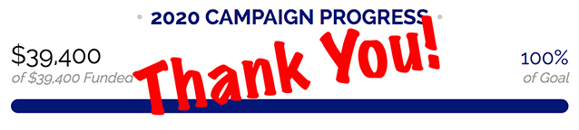 2020 Partners in Charity - We Met Our Goal! Thank You!